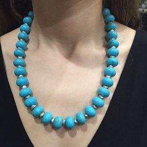 unknown Jewelry - Solid turquoise beaded necklace